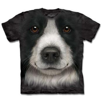 (預購)『摩達客』美國進口【The Mountain】自然純棉系列 邊境牧羊犬 T恤