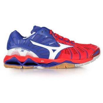 【MIZUNO】WAVE TORNADO X 男排球鞋- 羽球鞋 羽毛球 美津濃 藍紅白