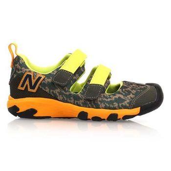 【NEWBALANCE】男中童休閒鞋- 童鞋 NB 軍綠黃橘
