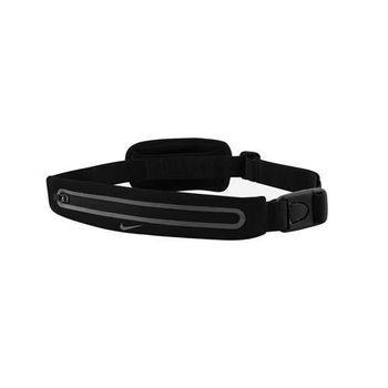 【NIKE】擴充式薄型腰包-附小袋 手機包 慢跑 路跑 黑銀