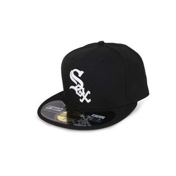 【MLB】NEW ERA 白襪隊帽-AC- 59FIFTY 黑白
