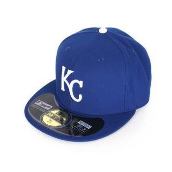 【MLB】NEW ERA 皇家隊帽-AC- 59FIFTY 藍白