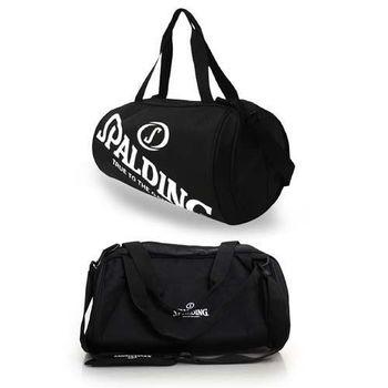 【SPALDING】二顆裝休閒兩用袋-側背包 籃球 肩背包 黑白