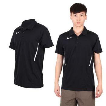 【NIKE】男短袖POLO衫-休閒T 短袖T恤 立領 黑白  100%聚酯纖維