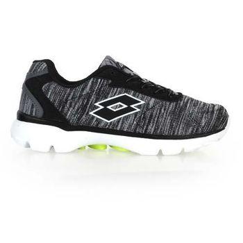 【LOTTO】女飛織輕量跑鞋-路跑 慢跑 黑灰