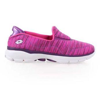 【LOTTO】女健體步行鞋 -休閒 健走 運動 走路鞋 紫桃紅