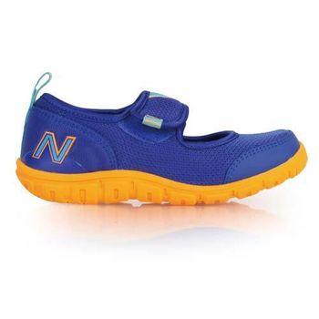 【NEWBALANCE】男女中童休閒鞋- 童鞋 NB N字鞋 藍橘