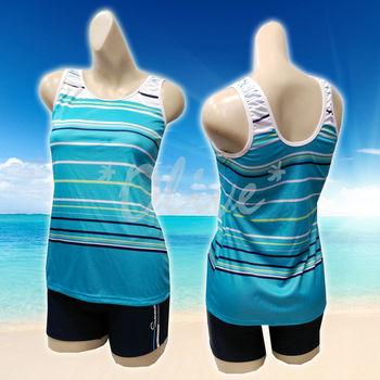 【舒沛品牌】海軍風條紋款時尚二件式泳裝 NO.S3035 (現貨+預購)