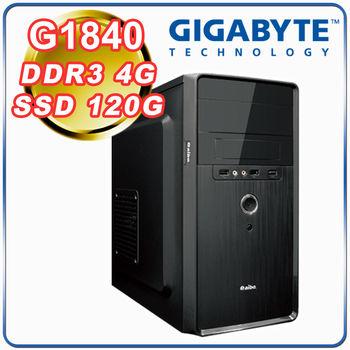 |技嘉H81平台|小資首選 Intel G1840雙核 4G記憶體 SSD120G 超值文書型電腦
