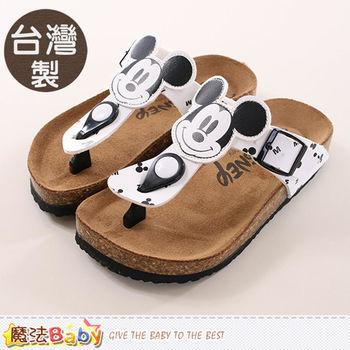 魔法Baby 成人女款涼鞋 台灣製米奇授權正版親子鞋大人款~sh9907