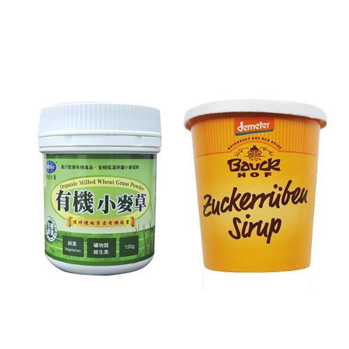 【BuDer 標達】有機小麥草粉+甜菜根糖蜜超值組