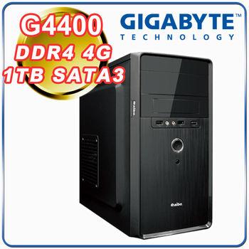|技嘉H110平台|小資首選 Intel G4400雙核 4G記憶體 1TB 大容量硬碟 超值文書型電腦