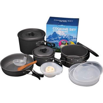 戶外休閒野營鍋具15件組