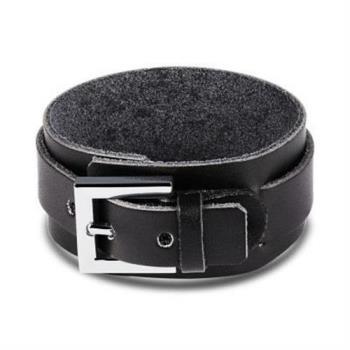【米蘭精品】皮革手環鈦鋼手鍊寬版個性牛仔風格男款2色73cq108