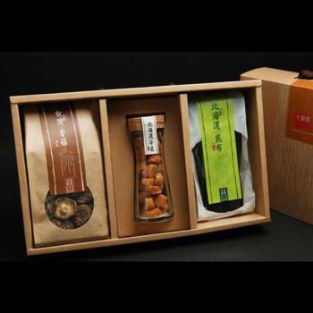《十翼饌》 喜迎春山海珍味絕品禮盒 x1(北海道干貝+新社香菇+北海道厚岸昆布)