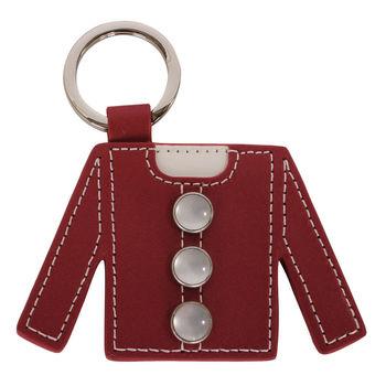 agnes b. 衣服造型皮革鑰匙(紅)