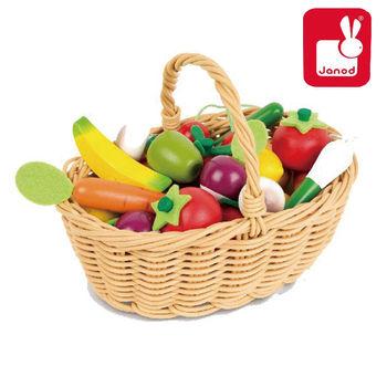 法國Janod創意兒童智玩-妙廚師好料理-蔬果總匯提籃組(24pcs)