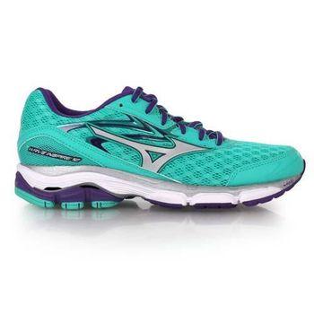 【MIZUNO】WAVE INSPIRE 12 女慢跑鞋- 路跑 美津濃 運動 湖水綠紫
