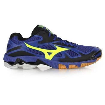 【MIZUNO】WAVE BOLT 5男排球鞋- 美津濃 羽球鞋 藍螢光黃