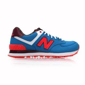 【NEWBALANCE】574 系列 女復古休閒鞋- 走路鞋 NB N字鞋 寶藍粉橘