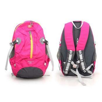 【NatureHike】30L旅行雙肩背包-後背包 14吋筆電 登山 旅行包 玫紅
