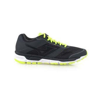 【MIZUNO】SYNCHRO MX 男慢跑鞋- 路跑 美津濃 健身 訓練 深灰螢光綠