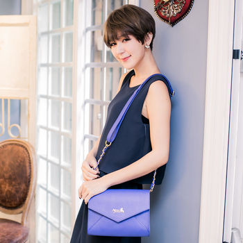 Rebecca Bonbon 日本狗頭包 致愛麗絲。金鍊信封小包【RB16-086B】皇家藍