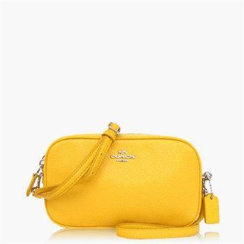 COACH 多種背法 皮革 / 手拿 / 斜背兩用包(小款)_黃色