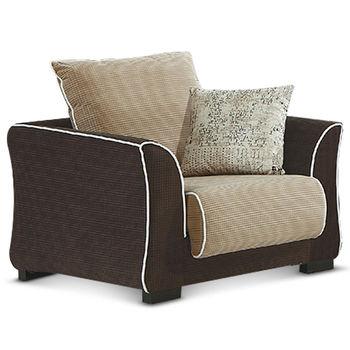【MY傢俬】休閒日式簡約舒適布面單人沙發