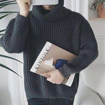 【協貿國際】男士高領毛衣韓版寬鬆加厚針織衫單件