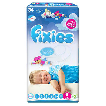 【Fixies寶貝愛因斯坦】長效型嬰兒尿布(XXL)6號 (2包裝)