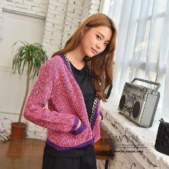 實拍韓版寬松時尚長袖外搭針織衫女開衫毛衣外套潮圖片色/均碼