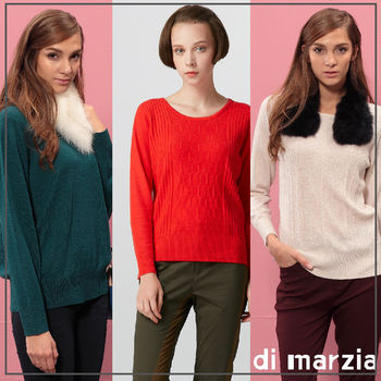 di marzia 經典時尚羊毛短版針織衫(買一送一)