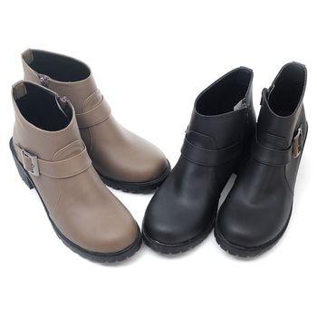 【 cher美鞋】MIT極簡高雅踝靴♥黑色/咖色♥A9358-03