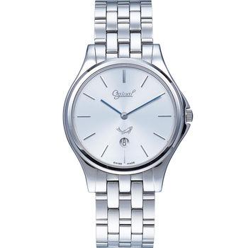 Ogival 瑞士愛其華  都會新時尚石英腕錶/38mm  829GS