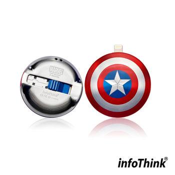 InfoThink IHERO美國隊長IPHONE雙頭隨身碟 64GB