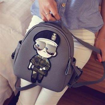 【米蘭精品】後背包刺繡雙肩包韓版時尚熱銷卡通圖案3色73fd60