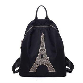 【米蘭精品】後背包鐵塔雙肩包休閒旅行精美刺繡時尚4色73fd70
