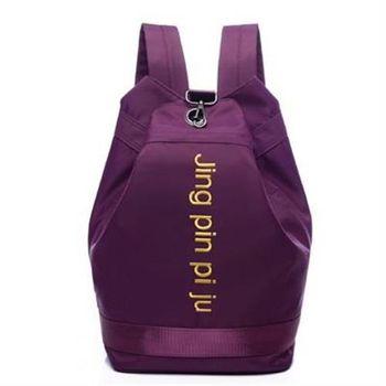 【米蘭精品】後背包字母雙肩包簡約百搭水桶包休閒4色73fd73