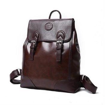 【米蘭精品】後背包素面雙肩包商務時尚簡約復古男2色73fd12