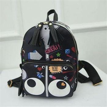 【米蘭精品】後背包印花雙肩包韓版時尚學生書包2色73fd18