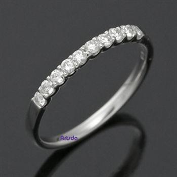 Artsda 寵愛自己鑽石線戒 (18K金,天然鑽石,經典系列#R02)