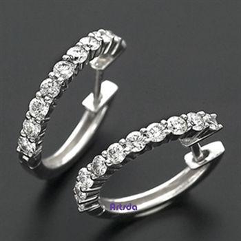 Artsda 可愛鑽石耳環 (18K金,天然鑽石,經典系列#01)