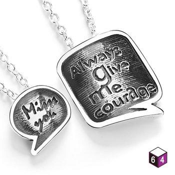 ART64 項鍊 情侶對鍊-Love message 幸福對話 925純銀對鍊