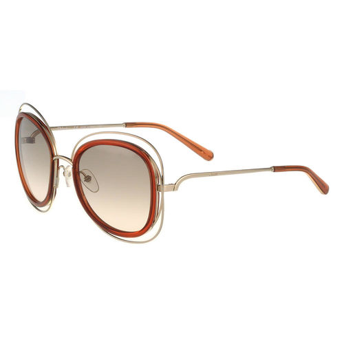 CHLOE太陽眼鏡 (金色+咖啡紅)CE123S-735