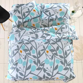 Belle Vie 精梳棉單人床包被套三件組 金色年華