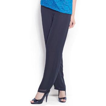 夏朵超顯瘦修飾寬版長褲1入