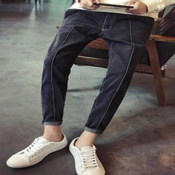 【協貿國際】潮褲男韓版修身小腳褲顯瘦牛仔褲單件