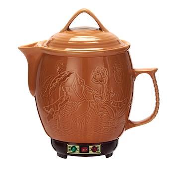 婦寶(5L)雙功能(鰻魚荷花)陶瓷煎藥壺,LF-600SF