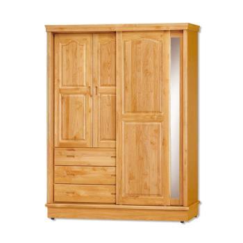 Bernice-維達5.2尺實木推門/拉門衣櫃